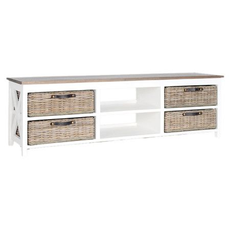 Simone Media Console In White Media Mueble Pinterest