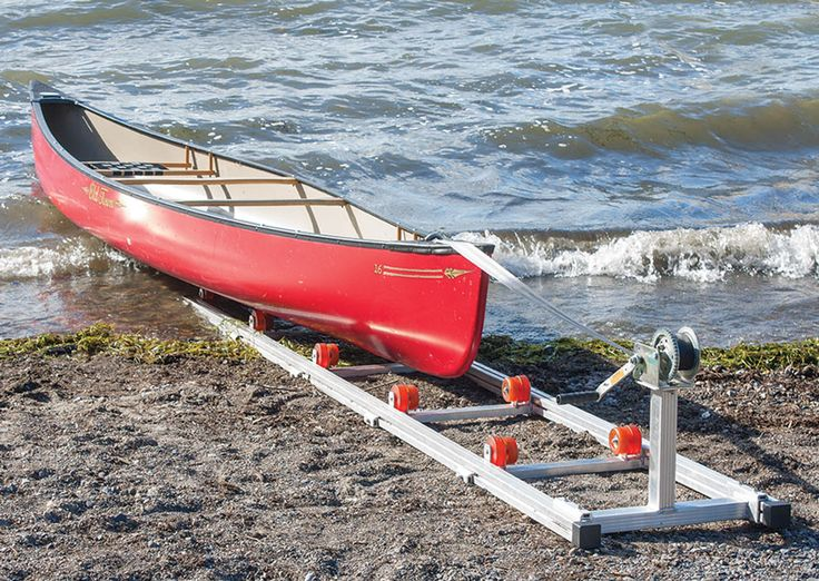 Beach roller rack canoes and kayaks to get up and over the rocks. bet i could geri rig one with an aluminum ladder, plastic wheels and a winch.