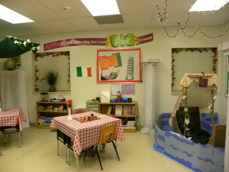 Classroom Decor Ideas For Preschool ~ Decorating classroom for italian theme with a gondola