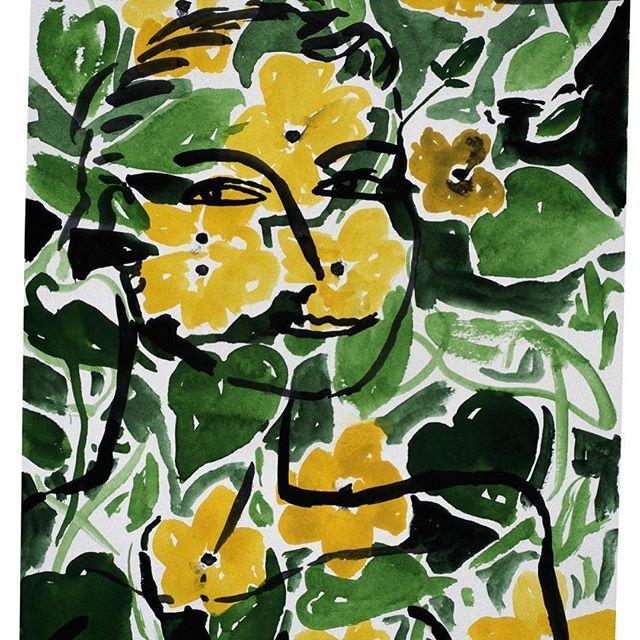 #stefanszczesny #eva #watercolor #aquarelle #paper #1995 #modernart #contemporaryart #visualart #art #artwork #kunst #