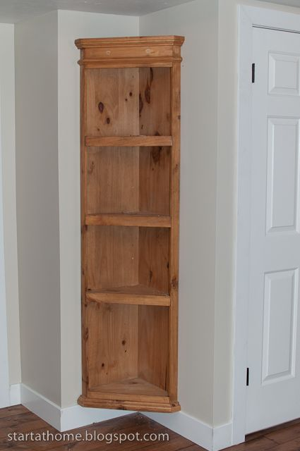 Built In Shelf {the easy way} & tutorial | DIY | Pinterest ...