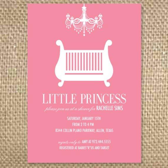 Baby Girl Chandelier Crib Shower/Invitation by uluckygirl on Etsy, $2.50