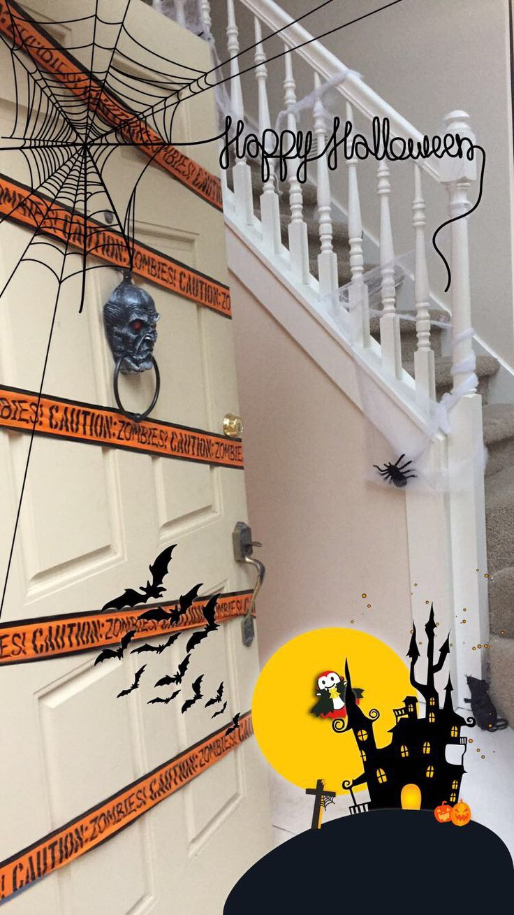 Best Halloween Front Entrance Spider Web Stairs With Images 400 x 300