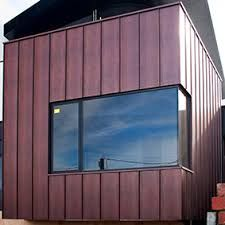 Image result for zinc seam wall cladding