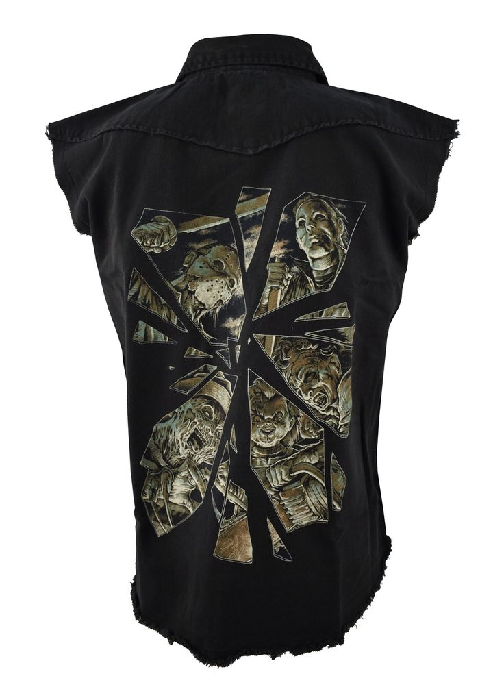 Horror mirror mens work shirt by Darkside clothing via Fetish4shoes. Click on the image to see more!