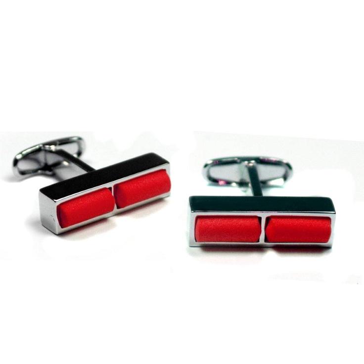 GiroGENT Rosso Red Cufflinks