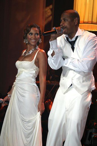 Beyonce & Jay-Z at Jay-Z's One man, One Night, One Album concert in 2006.