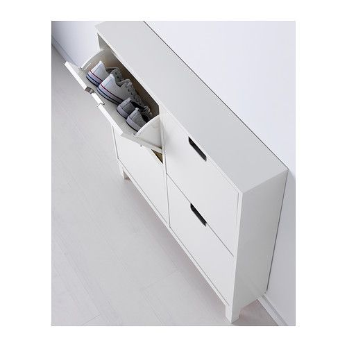 STÄLL Shoe cabinet with 4 compartments - white - IKEA
