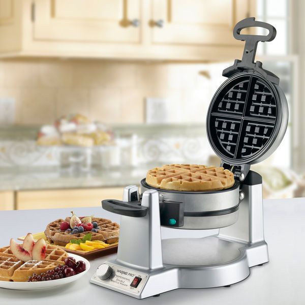affordable non stick stainless steel waring pro belgian double waffle maker - Waring Pro