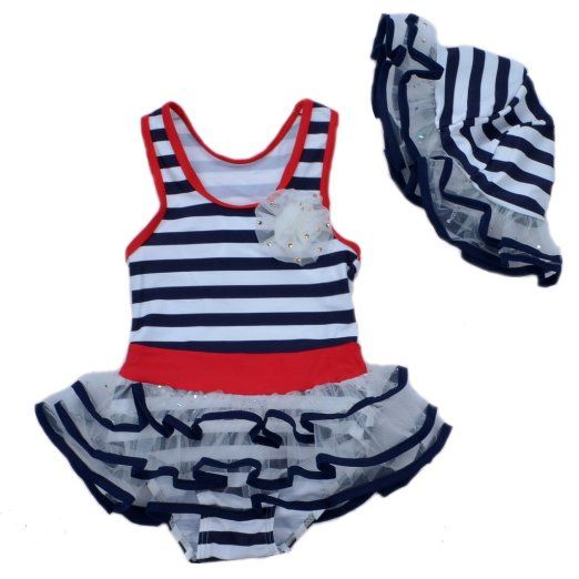 Nautical Baby Girl Bathing Suit