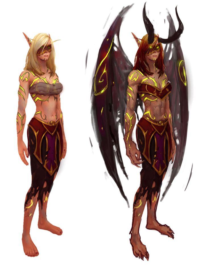 Female Blood Elf Demon Hunter from World of Warcraft: Legion