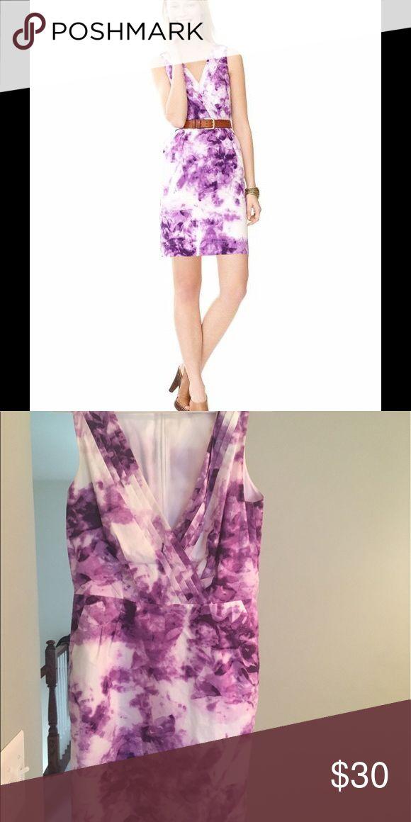 Banana Republic Purple Floral Dress Fits like 4 Banana republic super chic and versatile purple Floral dress. Size 8 but fits like a 4. Gently used.  banana republic Dresses Mini