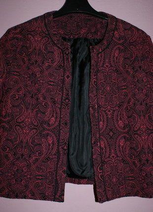 Kup mój przedmiot na #vintedpl http://www.vinted.pl/damska-odziez/marynarki-zakiety-blezery/16539396-elegancki-zakiet-w-ciemnym-kolorze-bordowym