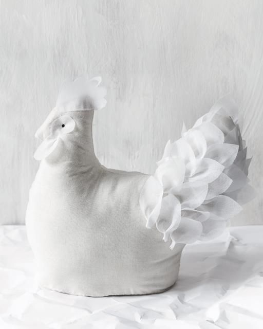Soft Sculpture Calico Hen Sweet Paul Magazine