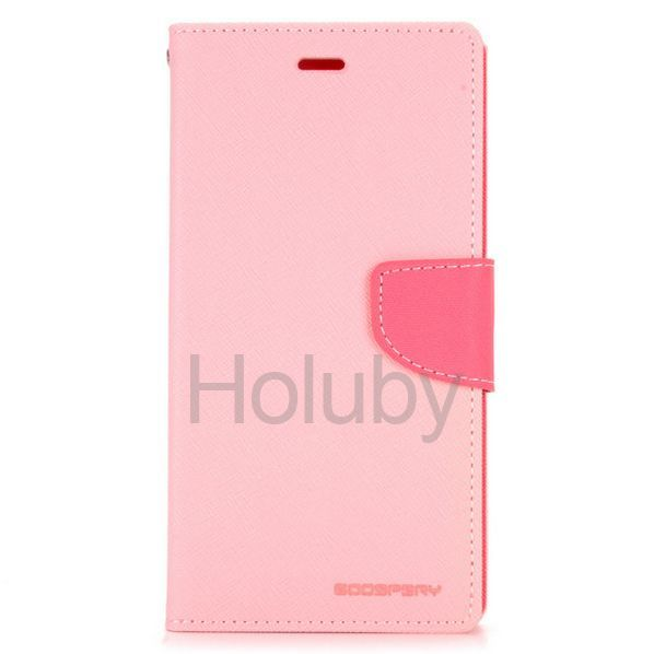 Mercury Goospery Fancy Diary Series Dual Color Magnetic Flip Stand TPU+PU Leather Case for Miui Xiaomi Redmi Note (Pink+Rose)