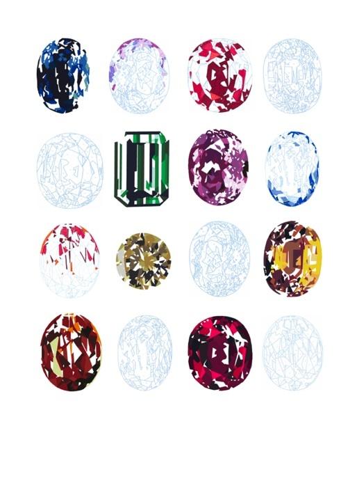 Elizabeth Corkery Gemstone Painting