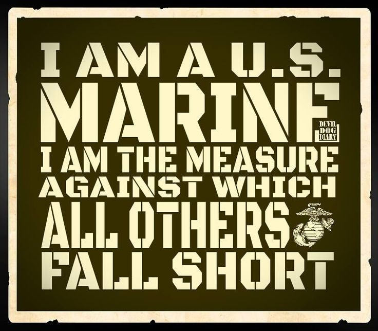 U.S. Marine - the measure against which all others fall short
