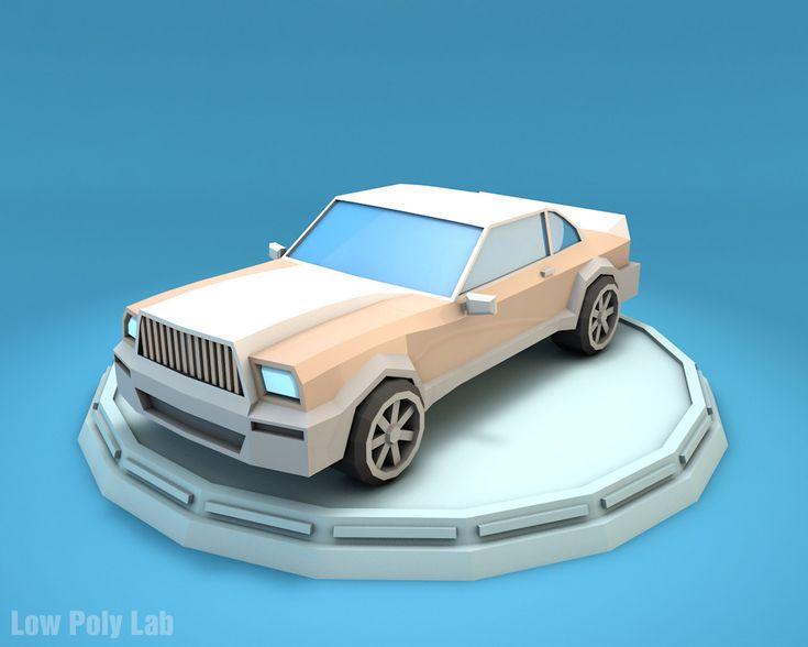 Low Poly Luxury Car