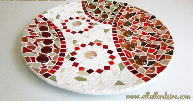 Cómo decorar platos de cristal con mosaico, ¡espectacular!