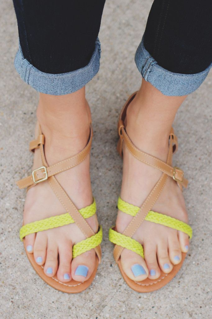Neon Strappy Sandals Archer-61x – UOIOnline.com: Women's Clothing Boutique
