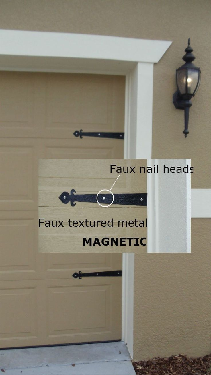 Magnetic Garage Door Decorative Hardware Kit Hinges Fleur