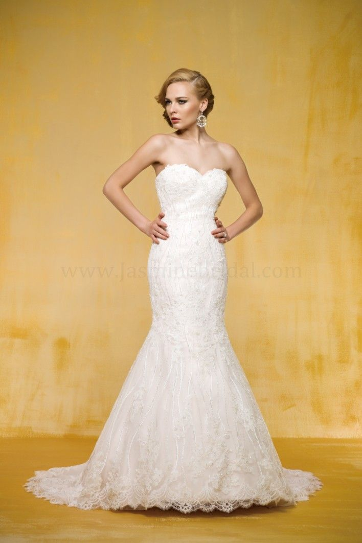 T162005 / Wedding Dresses / Jasmine Couture Collection / Available Colours : Ivory/Creme, Ivory/Gold, Ivory/Ivory, White/Creme, White/Gold, White/White, Ivory, White