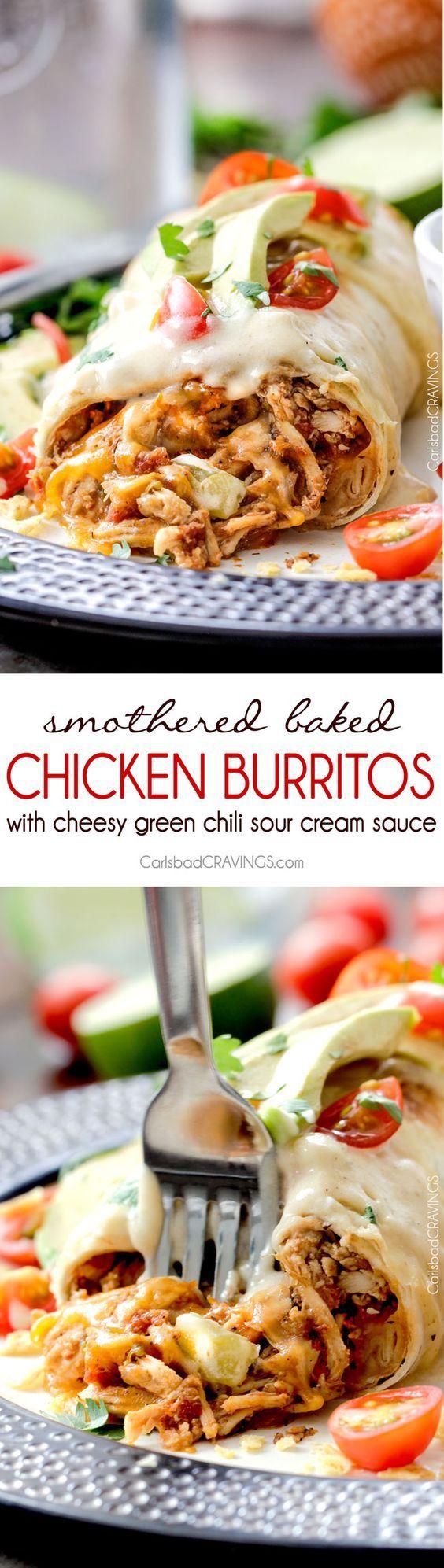 "D R O O L I N G --> Smothered Baked Chicken Burritos AKA ""skinny…"