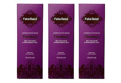 Sunless Tanning Products: 3 Pack -- Fake Bake Flawless Self-Tanning Liquid - 6 Oz Mist With Mitt New -> BUY IT NOW ONLY: $37.95 on eBay!