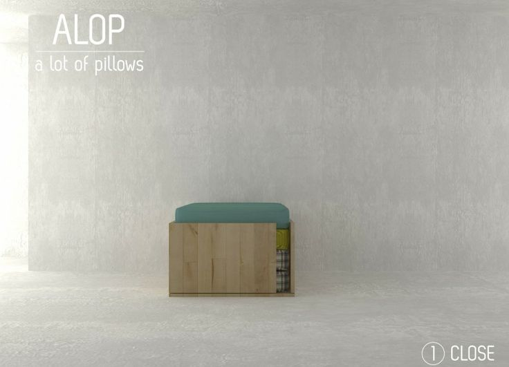 Formabilio - Il prodotto è una seduta multifunzionale per spazi contemporanei. Un oggetto che si trasforma e si adatta a varie funzioni - tavolo con sedute informali, spazio relax, pouf, sedute outdoor - seguendo il ritmo e le esigenze del vivere odierno. E' pensato per giovani coppie o adolescenti e si configura con una base in legno e tre cuscini che possono essere riposti all'interno della base, per liberare spazio nell'abitazione, nella configurazione pouf. I tre cuscini, di dimensioni…
