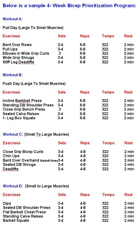 How To Make A Workout Plan Bodybuilding - Workout And Yoga Pics