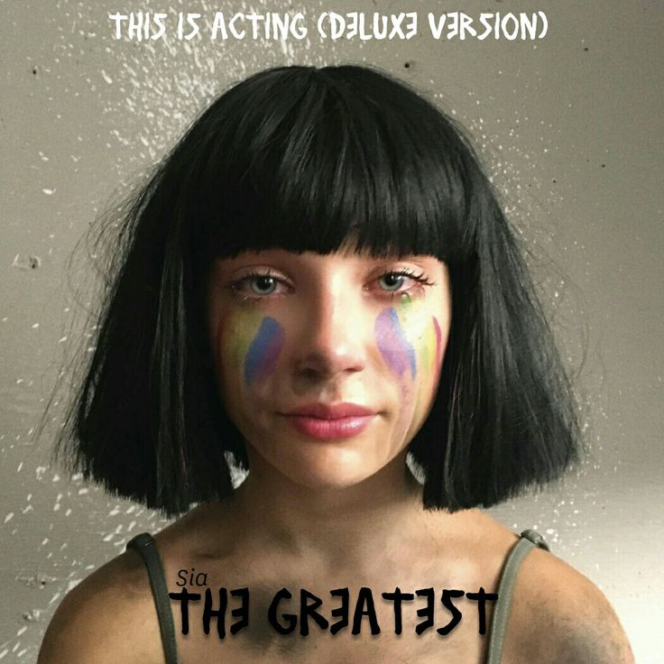 Sia's latest song from 'This is Acting' The Greatest Album Art #AlbumArt #Sia #TheGreatest #imnmo