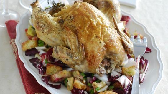 Запеченная курица с хлебным гарниром. Пошаговый рецепт с фото, удобный поиск рецептов на Gastronom.ru