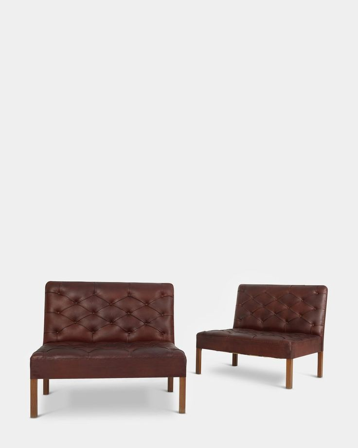 Pair of free-standing addition sofas by Kaare Klint