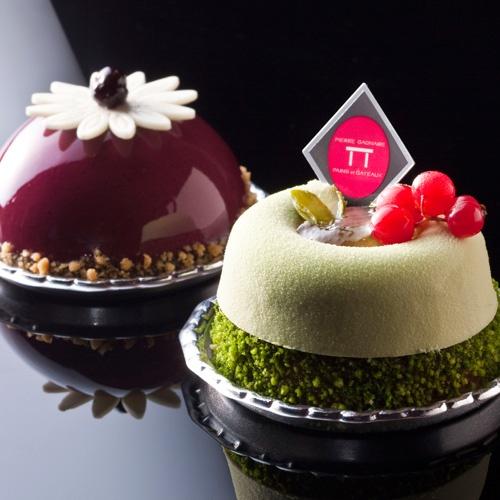 フルール・ド・カシス(Cassis) タルト・クレーム・ア・ラ・ピス (Pistachio) | Pierre Gagnaire ♥ Dessert