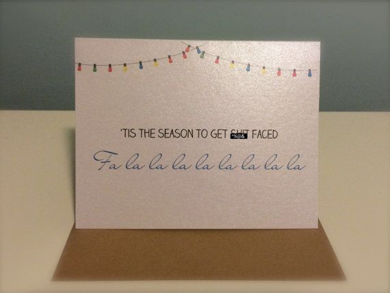 Christmas Card  Tis the season to get sht by UptownDesignsCanada