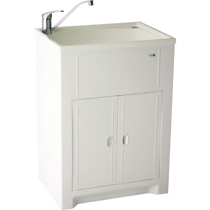 find milena solo 45l poly laundry trough and poly cabinet at bunnings warehouse visit - Bathroom Cabinets Bunnings