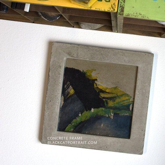 concrete art frame aeris by blackcatportrait on etsy - Etsy Frames
