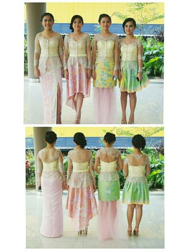 Kebaya and batik skirt for this girls graduation. Pastel colours never fail to make you younger.