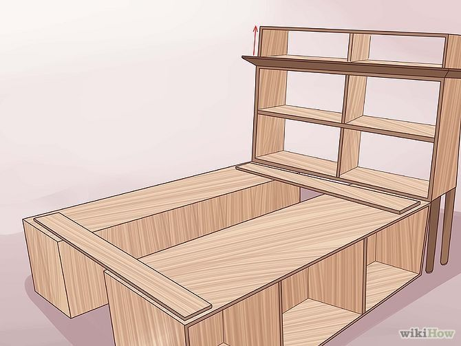 homemade bed frames wood | Build a Wooden Bed Frame Step 28.jpg