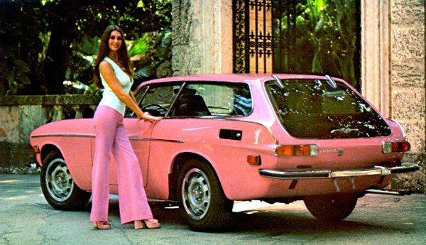 Volvo 1800ES 1973 year's model... (1973 Playboy Playmate of the year with her pink 1800ES)