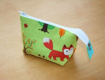 Fox forest small size pouch  | Felt