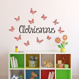 Best Images About Girls Name Decals On Pinterest - Custom name vinyl wall decals   how to remove