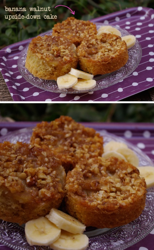 Banana walnut upside down cake | Going Bananas | Pinterest