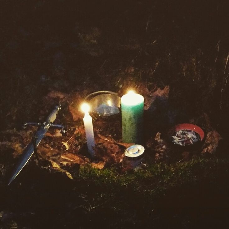 The woods are the right place for a witches ritual. From ancient times woods are the home and ritual places for witches, they are the hidingplace of all sorts of creatures.