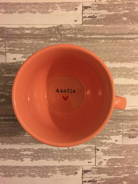◕∞ Kundenspezifische Tasse #Tante | Schwangerschaft # Ankündigung Schwanger…