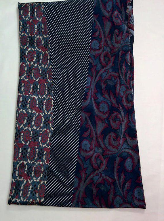 62. Silk Cowl Infinity Scarf from Neck Ties Neckties | Schals ...
