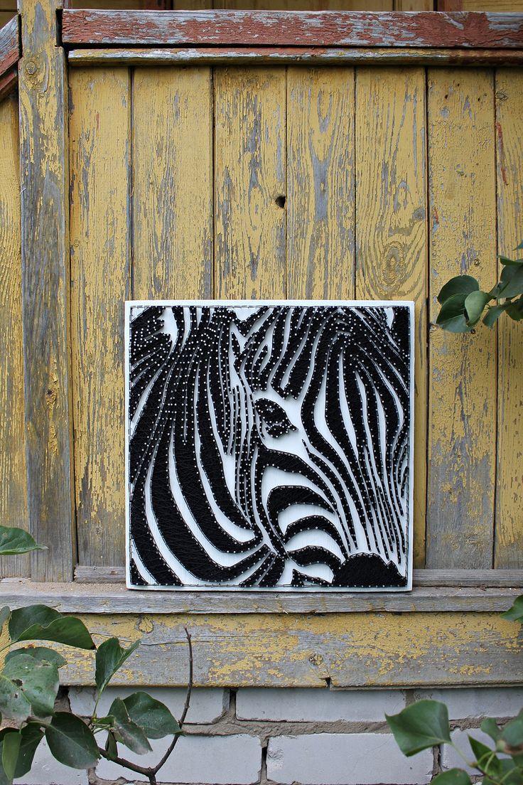 String art Zebra 44 best String art
