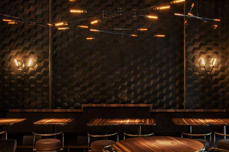 Urban Tiger Bar with IVANKA HEXXXA-3D wall covering.