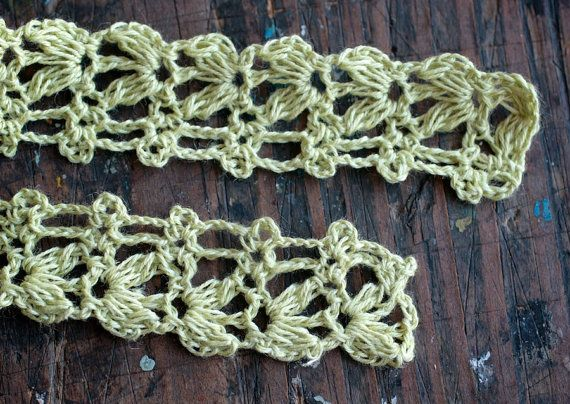 Hand Crocheted Linen Edging Lace Trim