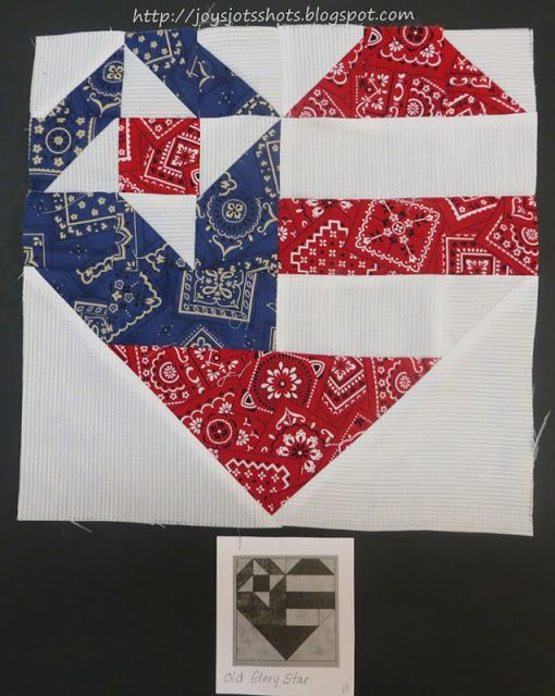 Joy's Jots, Shots & Whatnots: Quilt Block Shot #3 ~ Old Glory Star - REVISITED
